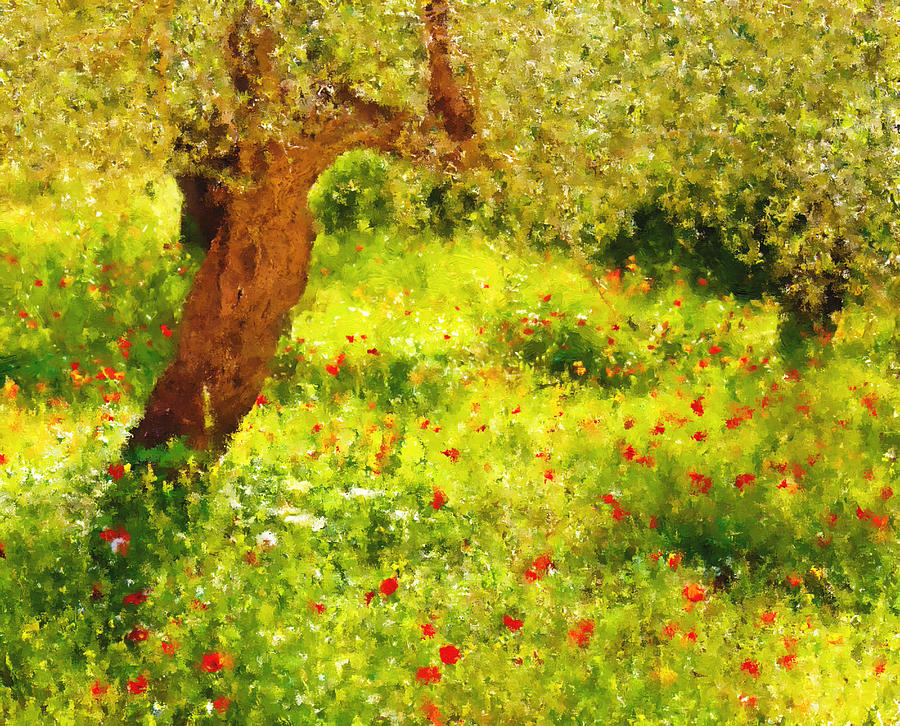 Spring Poppies Impressionism Painting