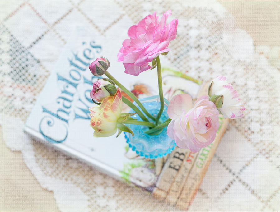 Flowers Photograph - Spring Ranunculus by June Marie Sobrito