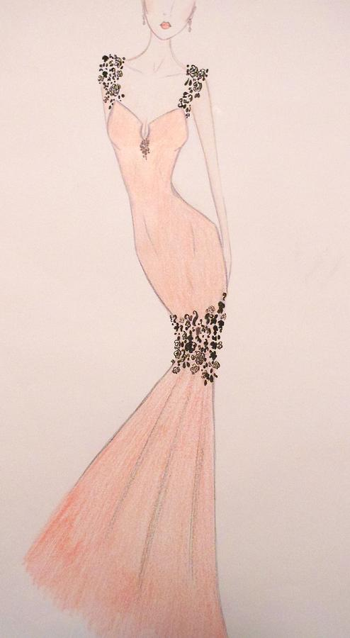 Soiree Drawing - Spring Soiree by Christine Corretti