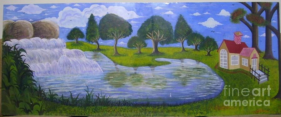Nature Land Scape Painting - Spring by Syeda Ishrat
