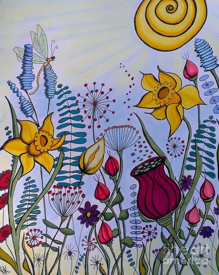 Spring Time Mixed Media by Vickie Scarlett-Fisher