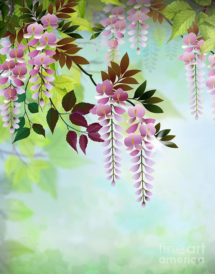 Spring Wisteria Digital Art