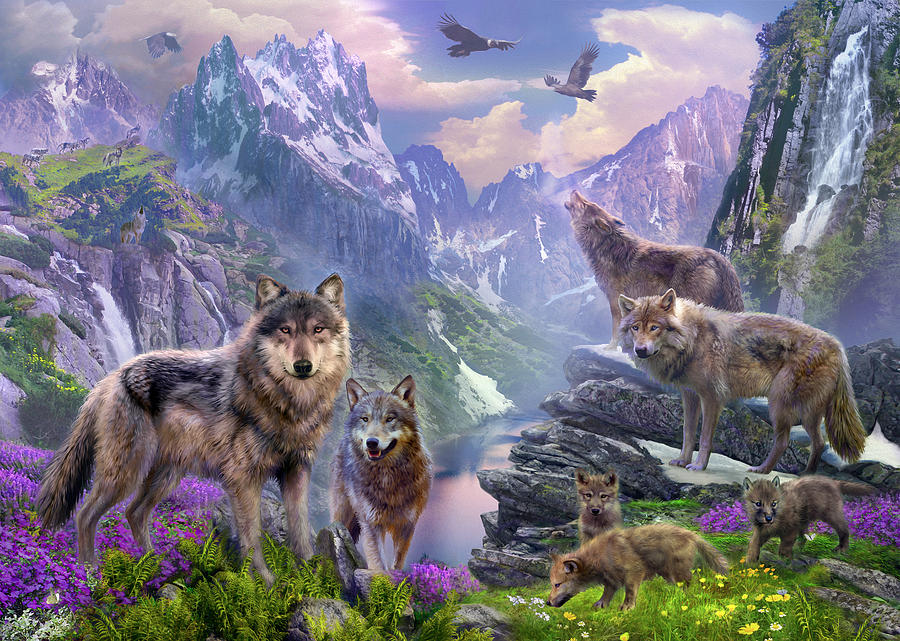 Spring Wolves Photograph