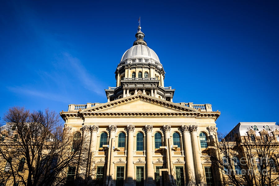 America Photograph - Springfield Illinois State Capitol Building by Paul Velgos