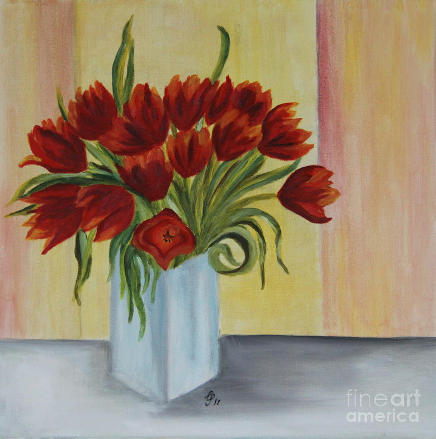 Springflowers - Oil Painting Painting  - Springflowers - Oil Painting Fine Art Print