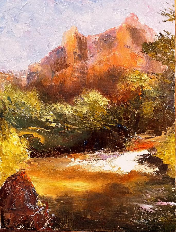 Springs In The Desert Painting