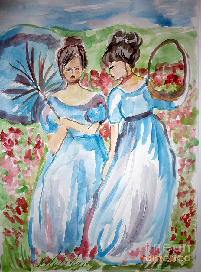 .................. Painting - Springtime by Farfallina Art -Gabriela Dinca-