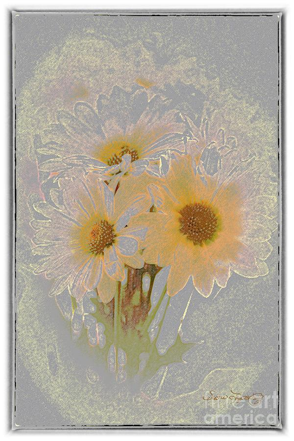 Sprinkled Daisies Digital Art  - Sprinkled Daisies Fine Art Print