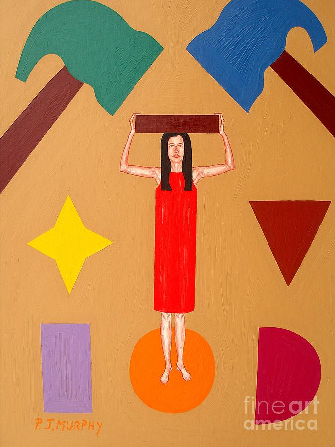Square Peg Painting - Square Peg Round Hole by Patrick J Murphy