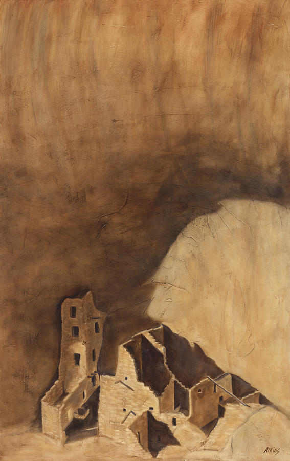 Mesa Verde Painting - Square Tower by Jack Atkins