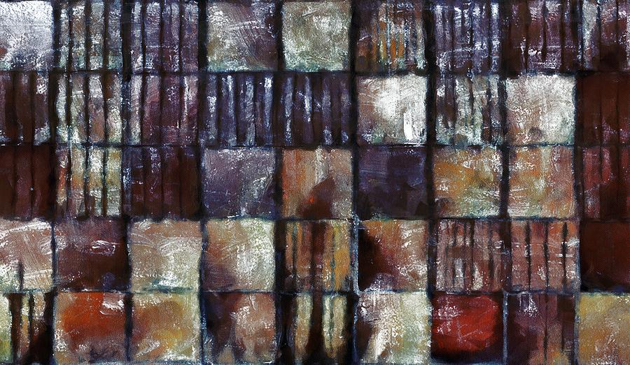 Squared Up 1 Mixed Media by Angelina Vick