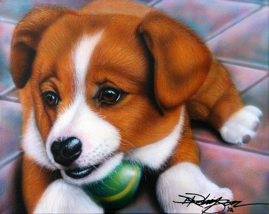 Squeaker Painting  - Squeaker Fine Art Print