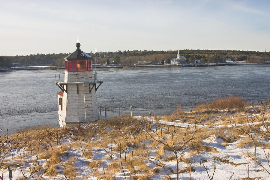 Squirrel Point Lighthouse Kennebec River Maine Photograph