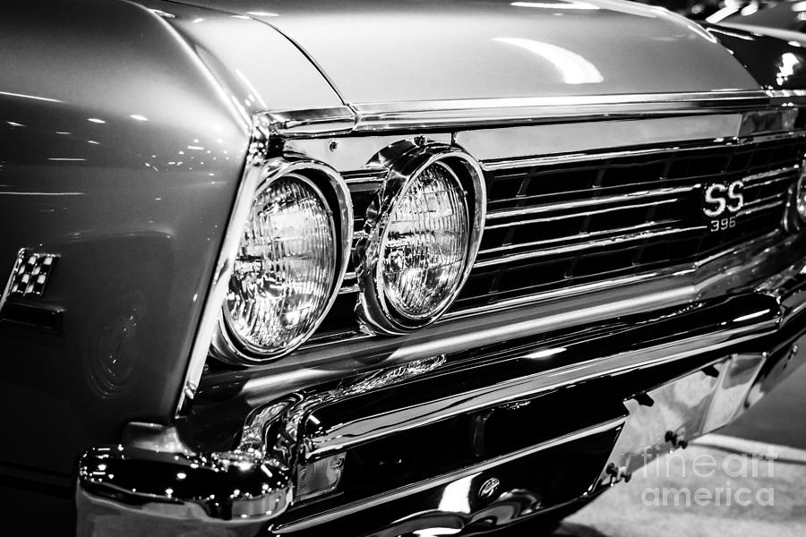 Ss396 Chevelle Black And White Picture Photograph