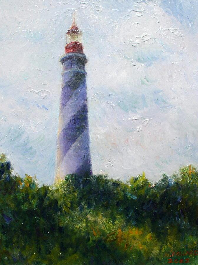 St. Augustine Light Painting - St. Augustine Light by Herschel Pollard
