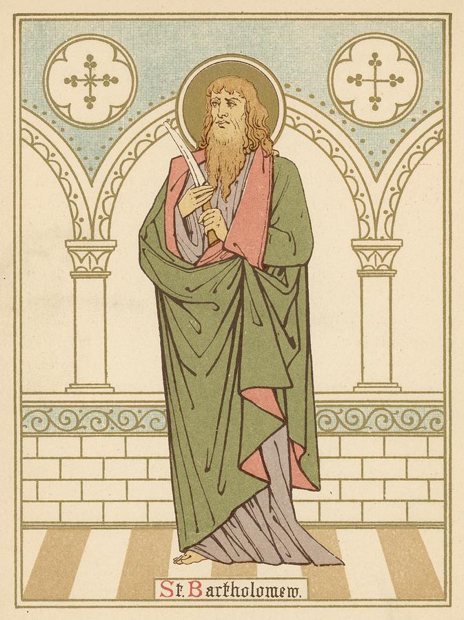 Saint Painting - St Bartholomew by English School