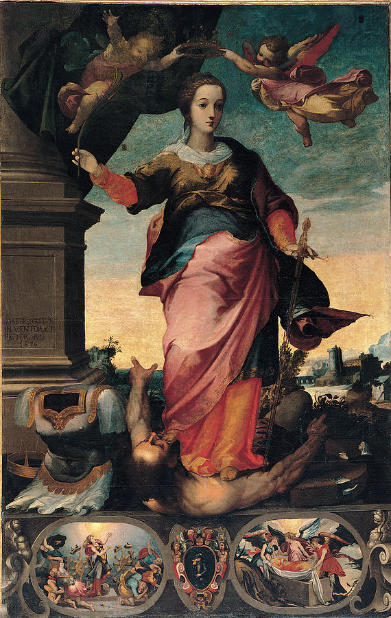 St Catherine Of Alexandria, 1570 - 1611 Painting