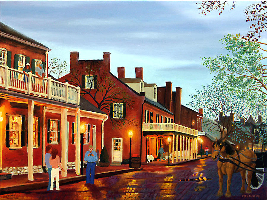 St Charles Cityscape II Impressionistic Oil Painting Painting