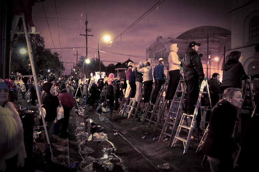 St Charles Night Parade Photograph