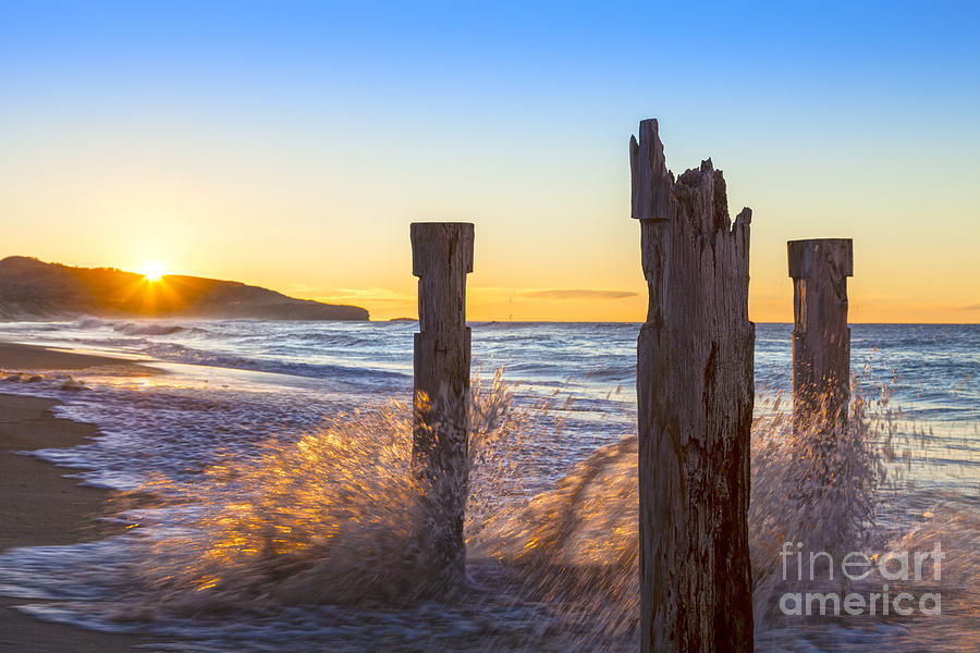 Beach Photograph - St Clair Beach Dunedin At Sunrise by Colin and Linda McKie