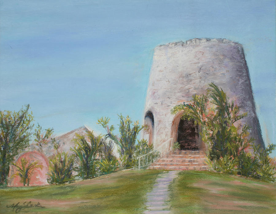 St. Croix Painting - St. Croix Sugar Mill by Mary Benke