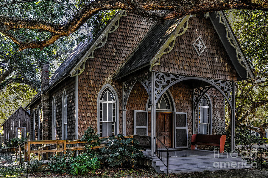 St. James Episcopal Church In Mccellanville Sc Photograph