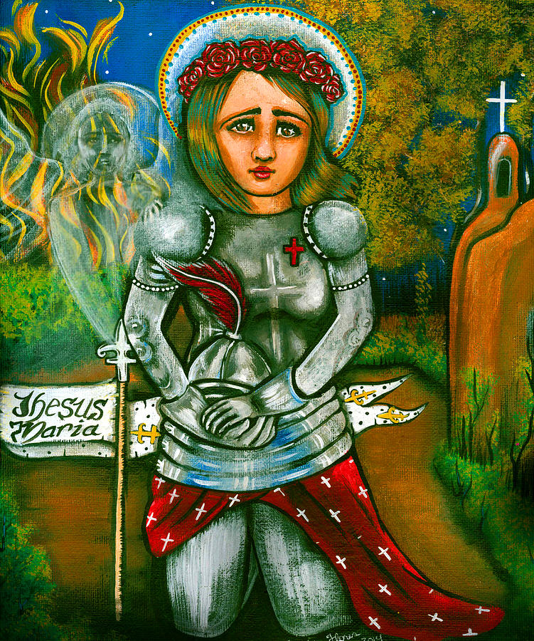 St. Joan Of Arc Painting by Carolyn Flores