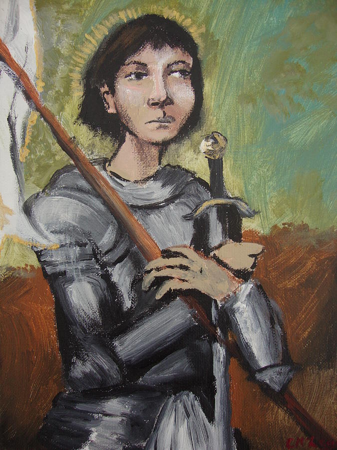 St. Joan Of Arc Painting by Charlene Leger