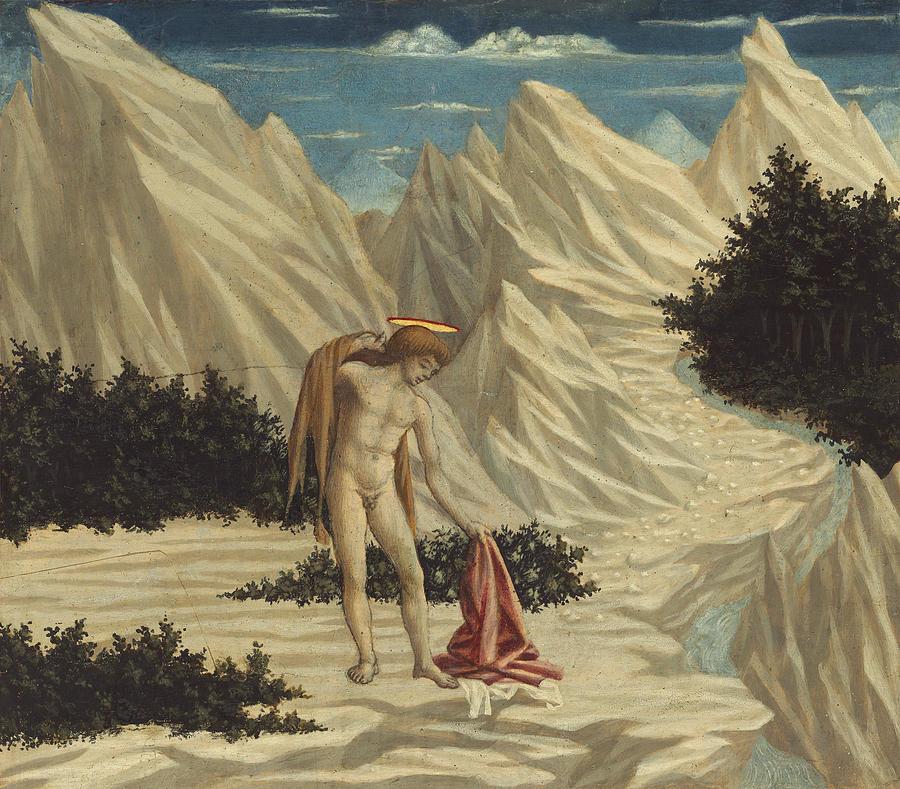 St. John In The Desert Painting