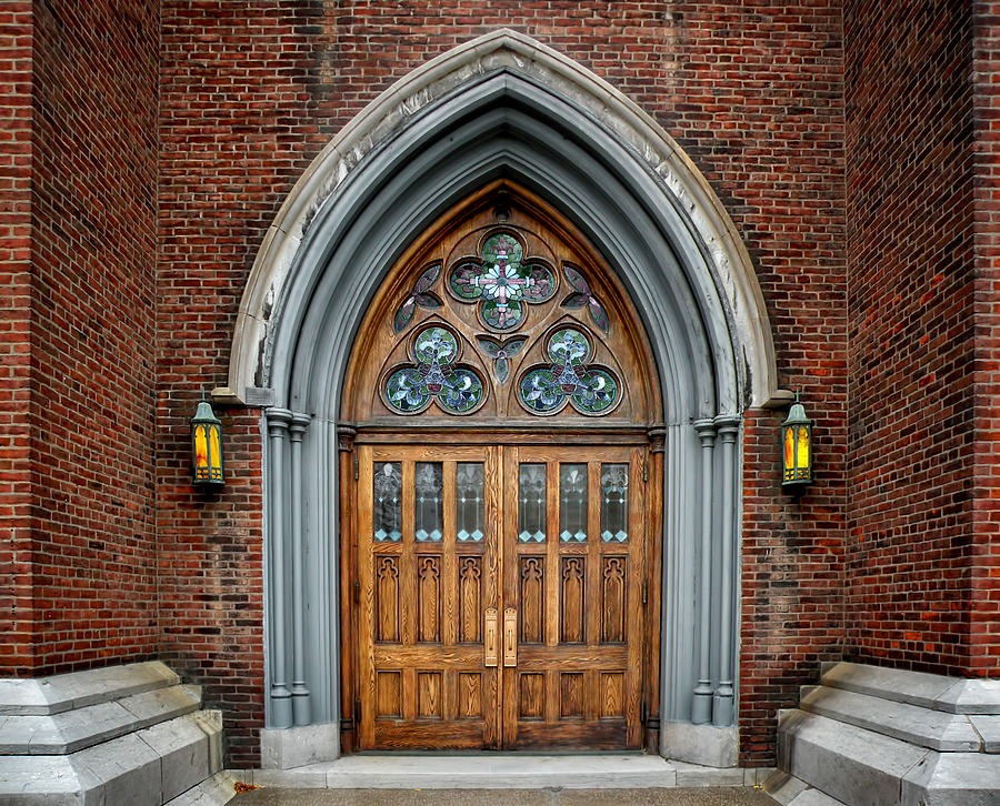 Church Door Photography Photograph - St. John The Evangelist Roman Catholic Church by Steven  Michael