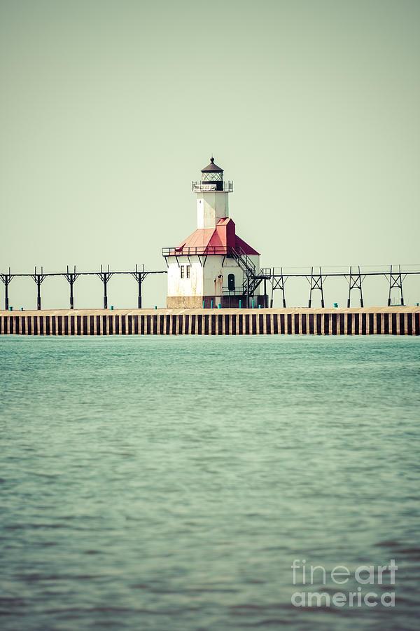 St. Joseph Lighthouse Vintage Picture  Photograph