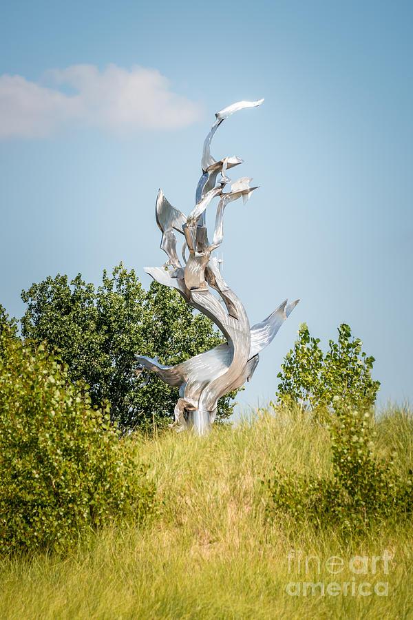 St. Joseph Michigan And You Seas Metal Sculpture Photograph