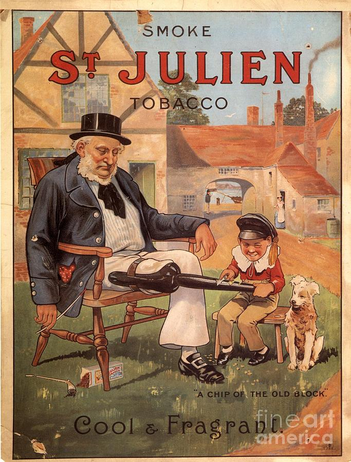 St Julien 1890s Uk Cigarettes Smoking Drawing  - St Julien 1890s Uk Cigarettes Smoking Fine Art Print