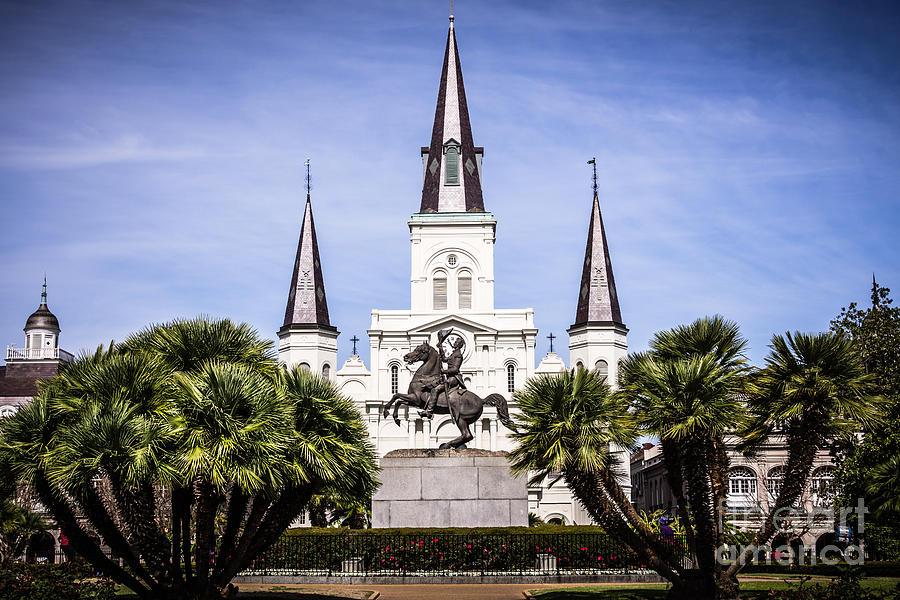 St. Louis Cathedral In New Orleans  Photograph