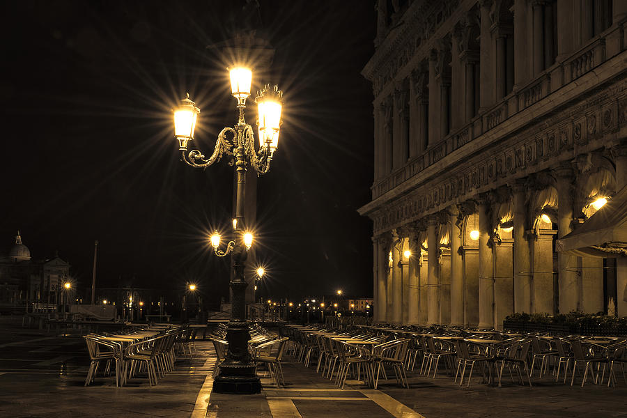 St Marks Square At Night Photograph