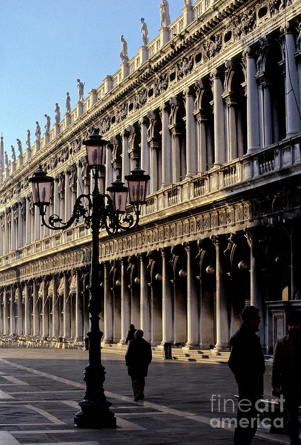 Facade Photograph - St. Marks Square Venice Italy by Ryan Fox