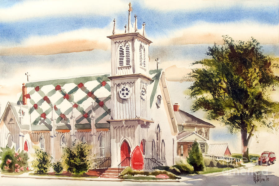 St. Pauls Episcopal Church II Painting