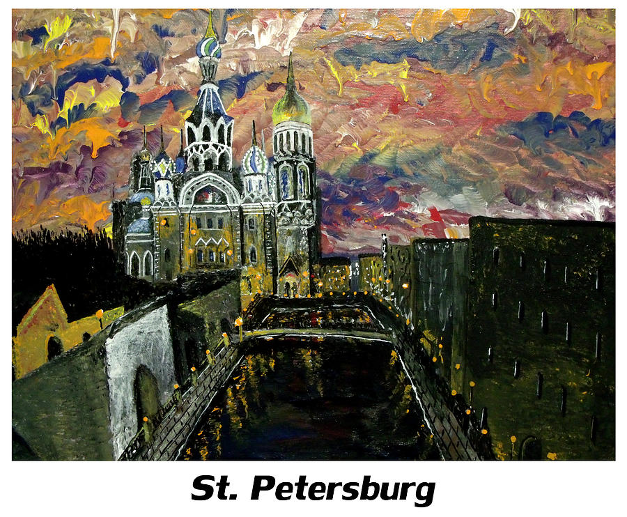 Russian Painting - St  Petersburg by Mark Moore