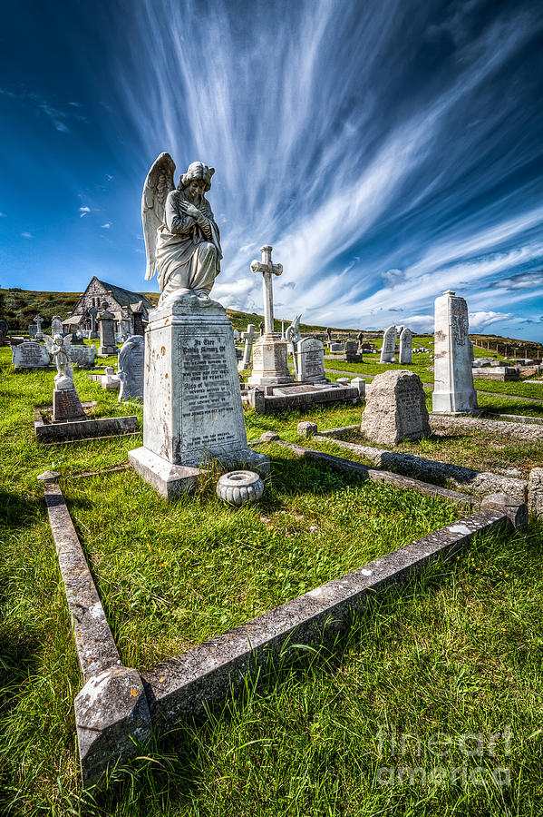 Angel Photograph - St Tudno Graveyard by Adrian Evans