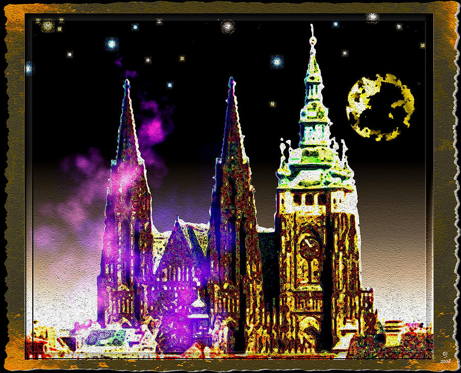 St. Vitus Cathedral Prague Digital Art