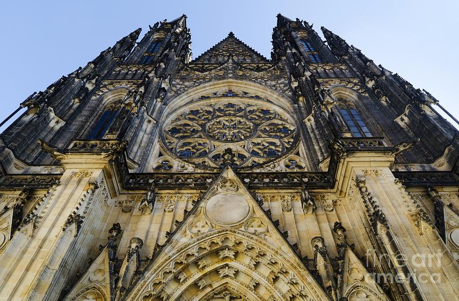 Prague Pyrography - St Vitus Church In Hradcany Prague by Jelena Jovanovic