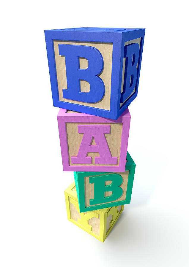 Stacked Baby Blocks Digital Art