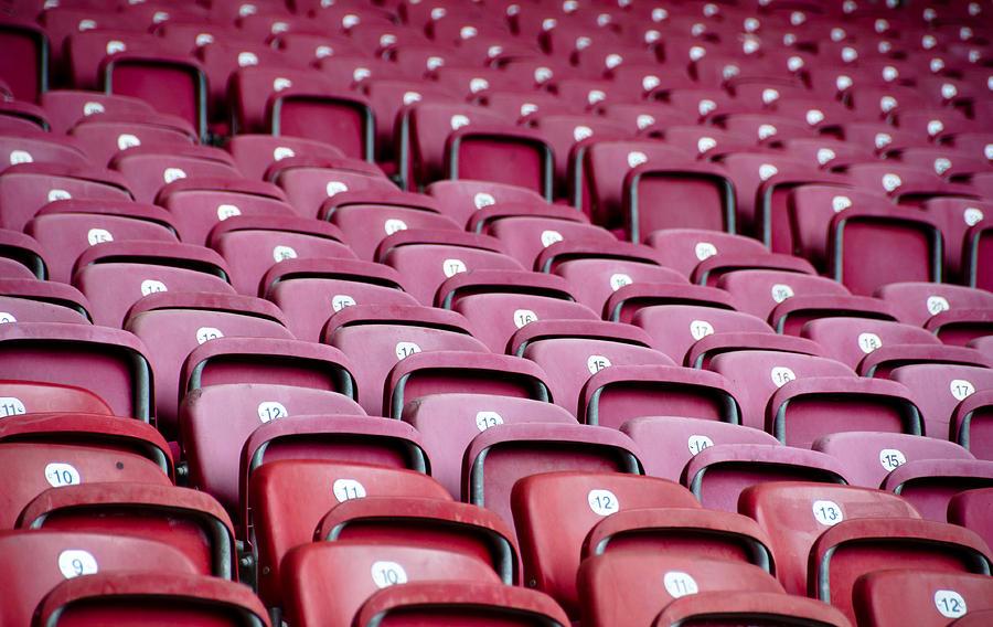 Stadium Photograph - Stadium Seats by Frank Gaertner