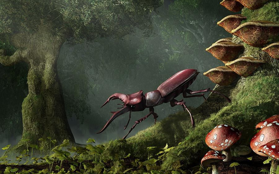Stag Beetle Digital Art - Stag Beetle by Daniel Eskridge