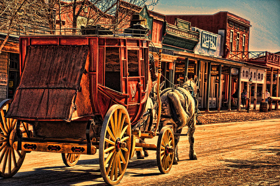 Stagecoach Photograph  |Large Western Stagecoach Art