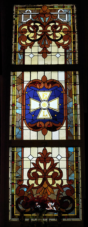 Stained Glass 3 Panel Vertical Composite 01 Photograph