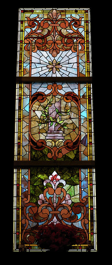 Stained Glass 3 Panel Vertical Composite 06 Photograph