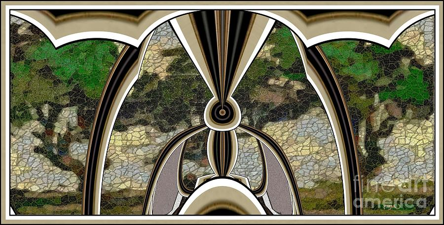 Modern Painting  Painting - Stained Glass Collage Sgc1 by Pemaro