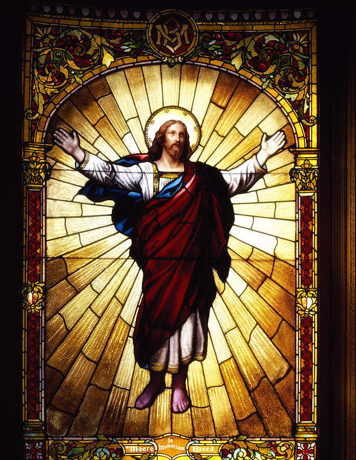 Jesus Christ Glass Art - Stained Glass Jesus by Mountain Dreams