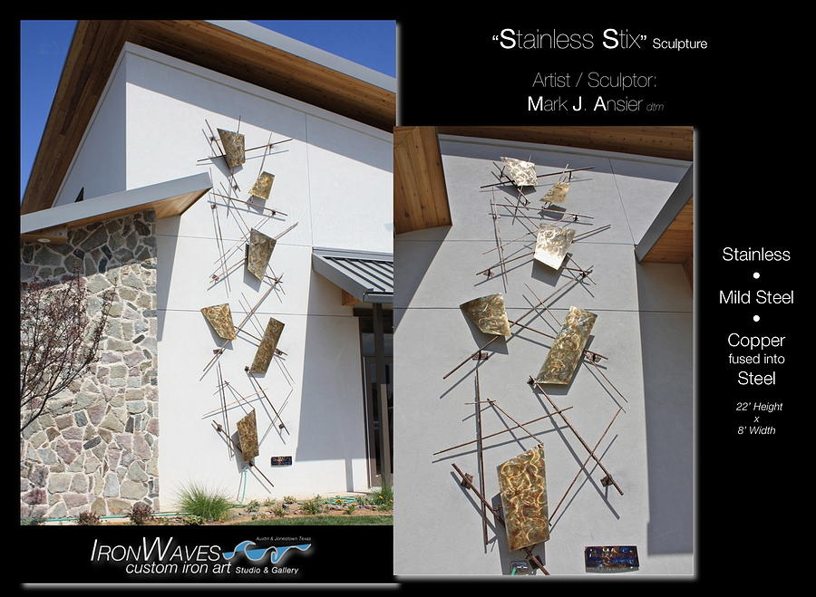 Brochure Sculpture - Stainless Stix by Mark Ansier